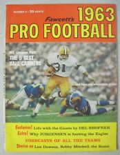 FAWCETTS 1963 PRO FOOTBALL MAGAZINE JIM TAYLOR GREEN BAY PACKERS JIM BROWN