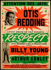 Otis Redding - Respect - 1965 - Single Release Promo Poster
