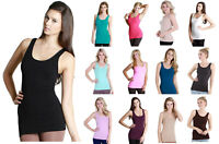Nikibiki Nylon Jersey Seamless Smooth Long Solid Basic Womens Tank Top