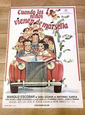 CHILDREN FROM MARSEILLE Vintage ROLLS ROYCE CAR Movie Film Poster MANOLO ESCOBAR