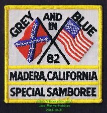 LMH PATCH Badge  1982 GOOD SAM CLUB SAMBOREE  Grey Gray Blue Special  MADERA CA