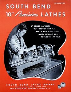 "Vintage 1951 Original South Bend Lathe Catalog #5126 PRECISION LATHE 10"" Swing"