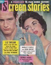 Screen Stories Oct. 1958 - Cat on a Hot Tin Roof, Liz Taylor Paul Newman
