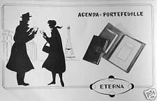 PUBLICITÉ ETERNA AGENDA PORTEFEUILLE
