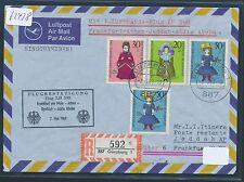62438) LH FF Frankfurt - Jeddah Arab 7.5.69, Brief WoFa Reco! ab Günzburg R!