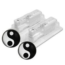 1 Paar STUDEX Medizinische Ohrstecker Yin Yang Stahl weiss Ø5mm DHL-Versand
