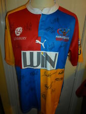 2010-2011 Squad Signed Harlequins RL Broncos Rugby Super League Shirt with COA