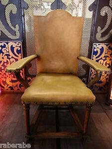 Sessel / Stuhl - Thronstuhl - RIESIG! - alt - Einzelstück -Kunstleder