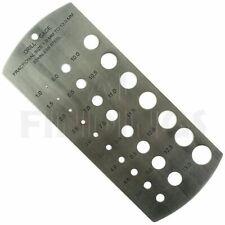 Stainless Steel Drill Gauges metric 1mm - 13mm Measure Tool
