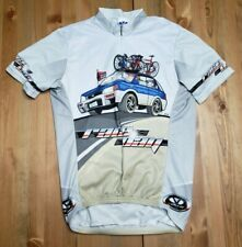 Voler Mens S Cycling Jersey Race Day Car Driving Bicycle 3/4 Zip Graphic