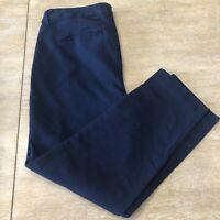 Women's Old Navy Harper Mid Rise Dress Crop Pants Navy Size 6 Regular