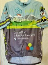XL Men's Cycling Jersey PRIMAL Mens 3 Pockets Full Zip colorful Project Recycle