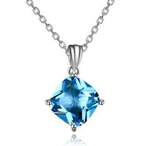 S925 Silver Necklace Pendant Rainbow Mystic Topaz Zircon Pendant Valentine Gift