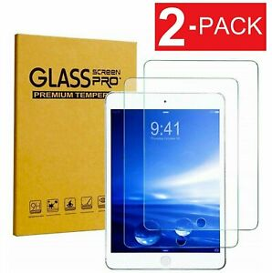 """2 Pack 2019 iPad 10.2"""" Tempered Glass Screen Protector for Apple iPad 10.2 inch"""