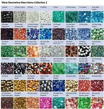 15.5oz WeJe 17-22mm Mosaic Glass Gems Flat Marble for Vase Fill Craft Aquarium
