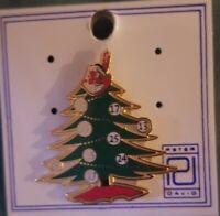 Cleveland Indians Seasons Greetings Holiday Christmas Tree Chief Wahoo Pin