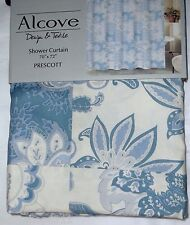 "PRESCOTT FABRIC SHOWER CURTAIN 70"" X 72""BY ALCOVE NEW IN BAG"