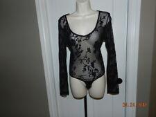 Lace Bodysuit Vintage Fredericks Of Hollywood Black Thong Biker Goth Dancer M
