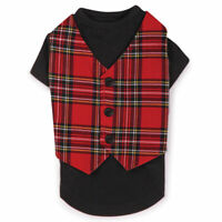 East Side Collection Holiday Tartain Vest For Dog Pet Puppy Winter Holidays XXS