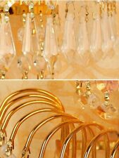 Crystal Golden Wall Lights Living Room Fixture Traditional Style E14 Base 40Watt