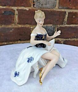 Wallendorf  German 1764 Porcelain - Woman Dancer Figurine  1590/0
