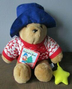 "Vintage Sears Kids Gifts 1998 Christmas Paddington Bear 15"" Plush w/Tag"