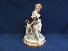 Meissen M152 Girl with Goat or Mädchen mit Ziege Large size statue, collectable