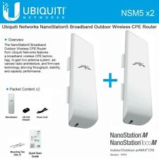 Ubiquiti Networks NanoStation5 Broadband Outdoor Wireless CPE Router (2-PACK)