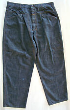 Marithe Francois Girbaud 40 Baggy Fit Gray Black Cotton Pants Actual 40 x 31 1/2