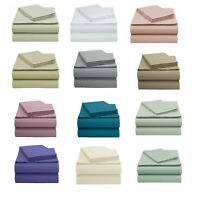 100% Organic Cotton Bed Sheet Set Fitted / Flat / Plus 2 Pillow Cases All Sizes!