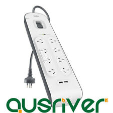 Belkin 8 Way Outlet Surge Protector Power Board with USB Charging iPhone Charger