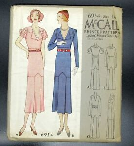 RARE! 16/34 FF #6954 Ladies Vintage Pattern McCall Dress Master Class  Last ones