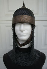 Medieval Turkish Helmet chainmail mantle LARP SCA DRACULA UNTOLD Movie Prop T