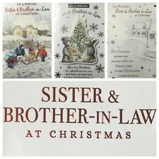 """SISTER AND BROTHER IN LAW CHRISTMAS CARD  5.5"""" X 7.5"""" (XMAS3)"""