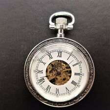 Few Traces of Use, Good Function Solid Men's Pocket Watch, Rather Modern,
