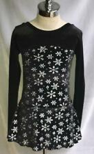Black Silver Snowflakes Figure Ice Skating Competition Dress