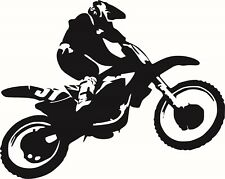 Sticker moto croos 57x45cm