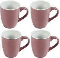 Set Of 4 New Bone China Pink Mugs 350ml Mug Coffee Coco Pink Mugs