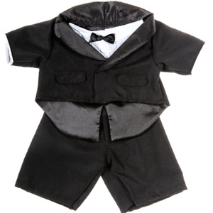 16 Inch Groom Wedding Suit / Tuxedo & Shirt - teddy bear stuffed animal clothes