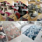 AURORA HAND CARVED ABSTRACT SOFT SMALL LARGE DENIM GREY OCHRE PINK RED RUG