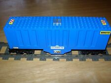 Lego Train Corrugated Box Car Custom City 9V RC Power Functions 60052 7939 10219