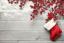 Red Christmas Socks Photography Background Photo Studio Props Backdrops Vinyl