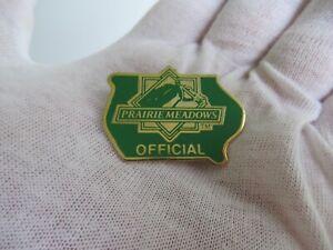 PRAIRIE MEADOWS HORSE RACING OFFICIAL RACETRACK LAPEL PIN