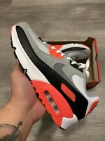Nike Air Max 90 Ultra White Cool Grey Infrared GS 833412-102 Size 7Y/8.5W HYPE