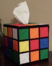 Handmade Finished Rubix Cube Tissue Box Cover home decoration nostalgic Big Bang