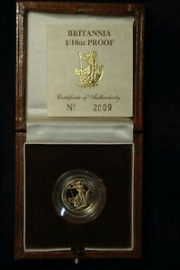 Britannia Ten Pounds £10 1988 1/10 Ounce Fine Gold PROOF RARE Date (BD)