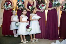 Davids Bridal Flower Girl Dress with flower crown
