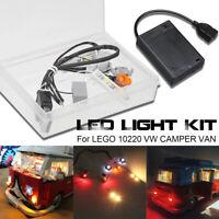 DIY LED Licht Beleuchtung Set Für LEGO 10220 VW CAMPER VAN Campingbus USB Light