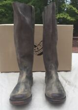 Freebird By Steven Brusl/Brussel Grey Multi Knee High Leather Boots Size 6 NIB