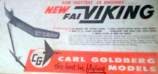 "Carl Goldberg's VIKING .15 PLAN + CONSTRUCTION ARTICLE 65"" FF Model Airplane"